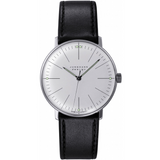 Junghans - Max Bill - Manual Wrist Watch - Stainless Steel/White Dial/Black Band