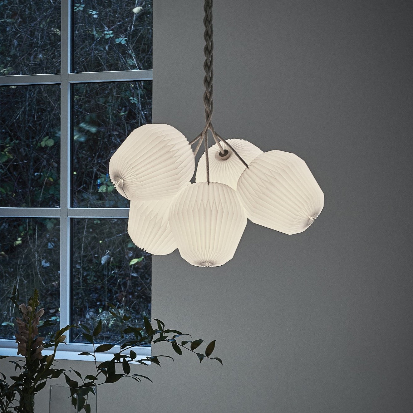 The Bouquet Chandelier, medium, 5 shades