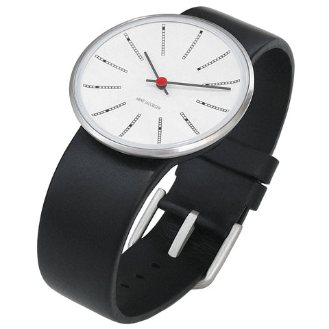 Arne Jacobsen - Banker's 34mm Wrist Watch