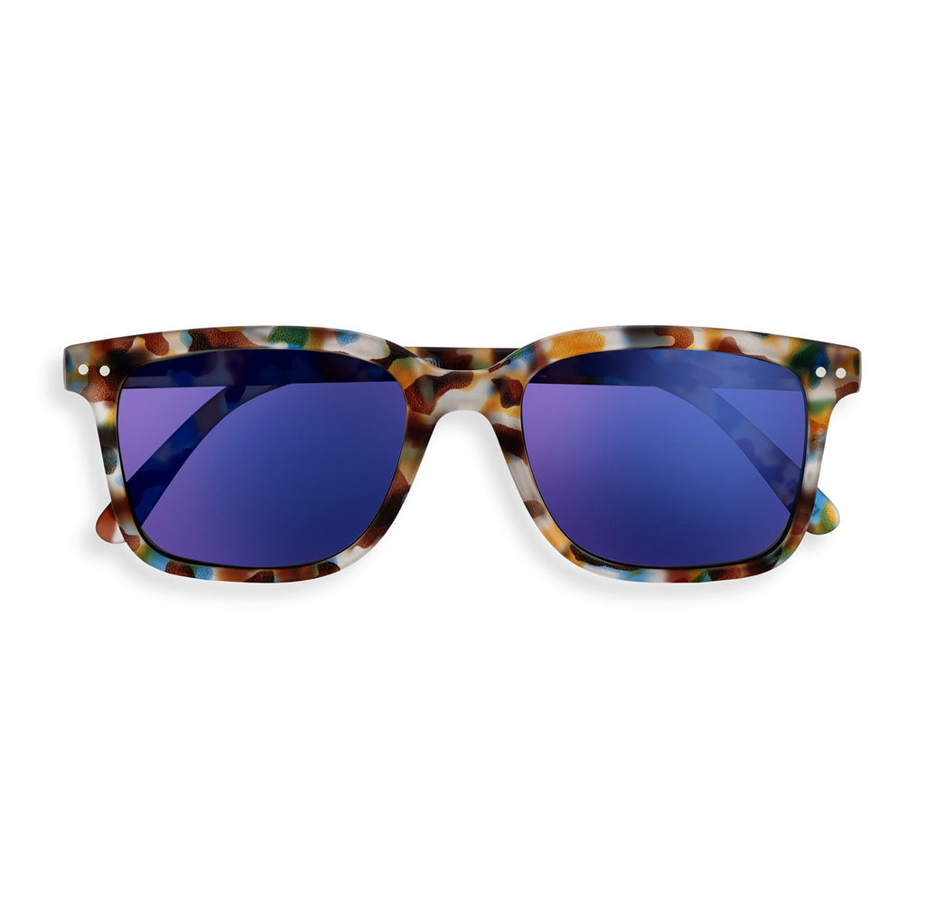 Sunglasses - L - Blue Tortoise Blue Mirror