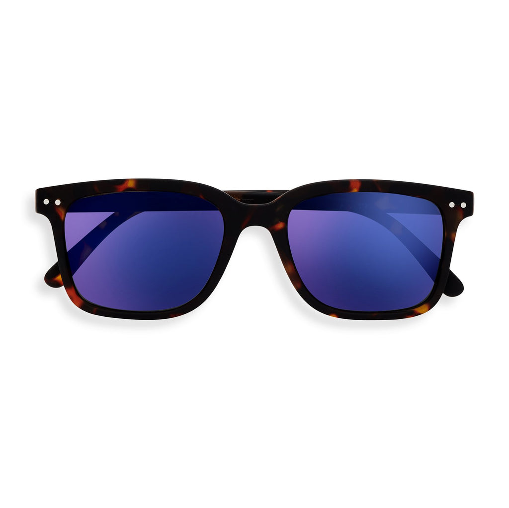 Sunglasses - L - Tortoise Blue Mirror