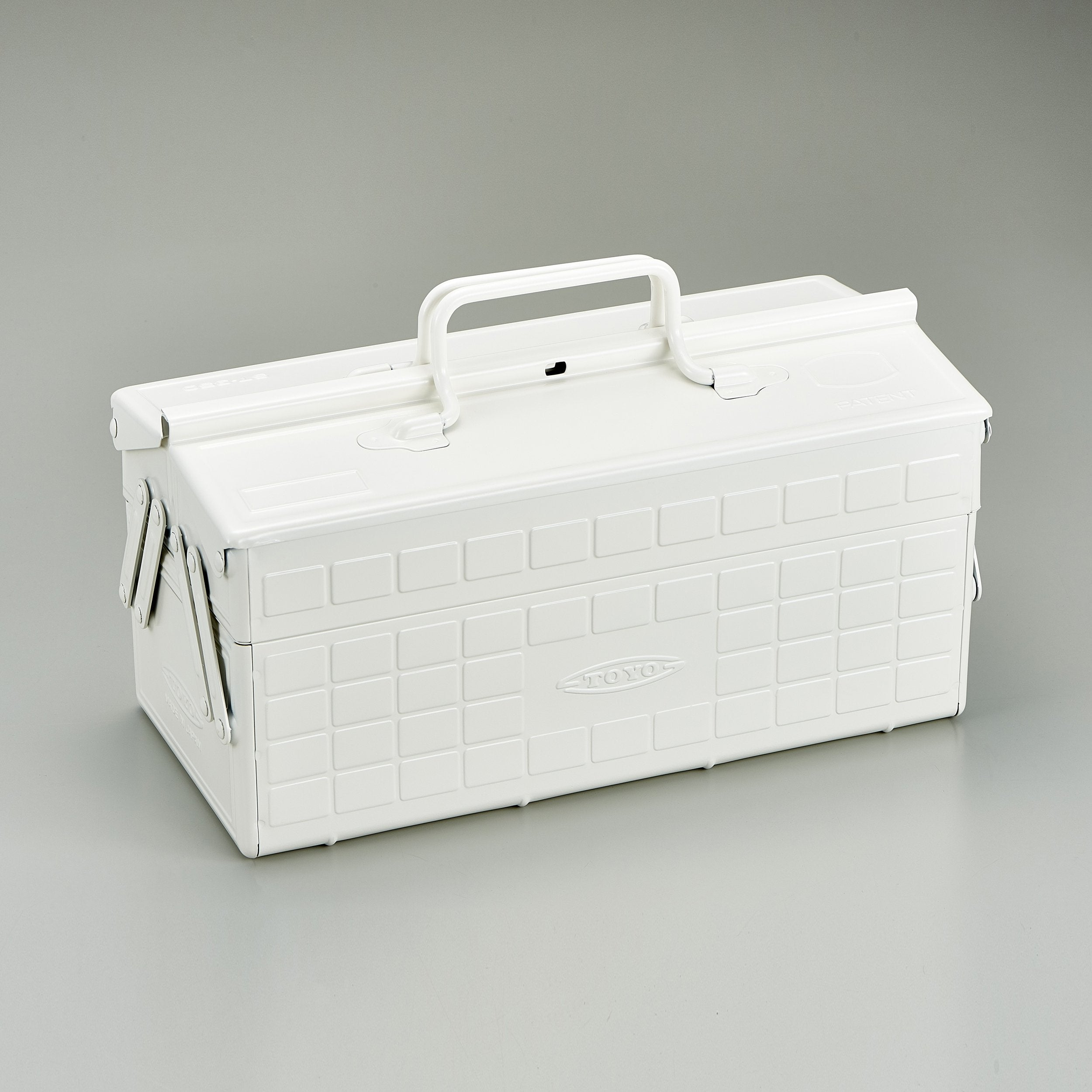 Steel Toolbox with Cantilever Lid and Upper Storage Trays, style ST-350