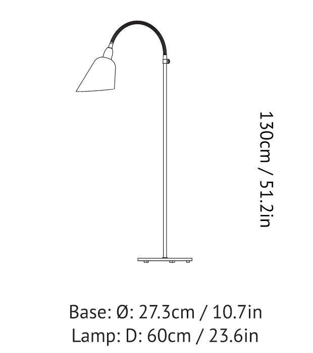 &tradition - AJ7 Bellevue Floor Lamps