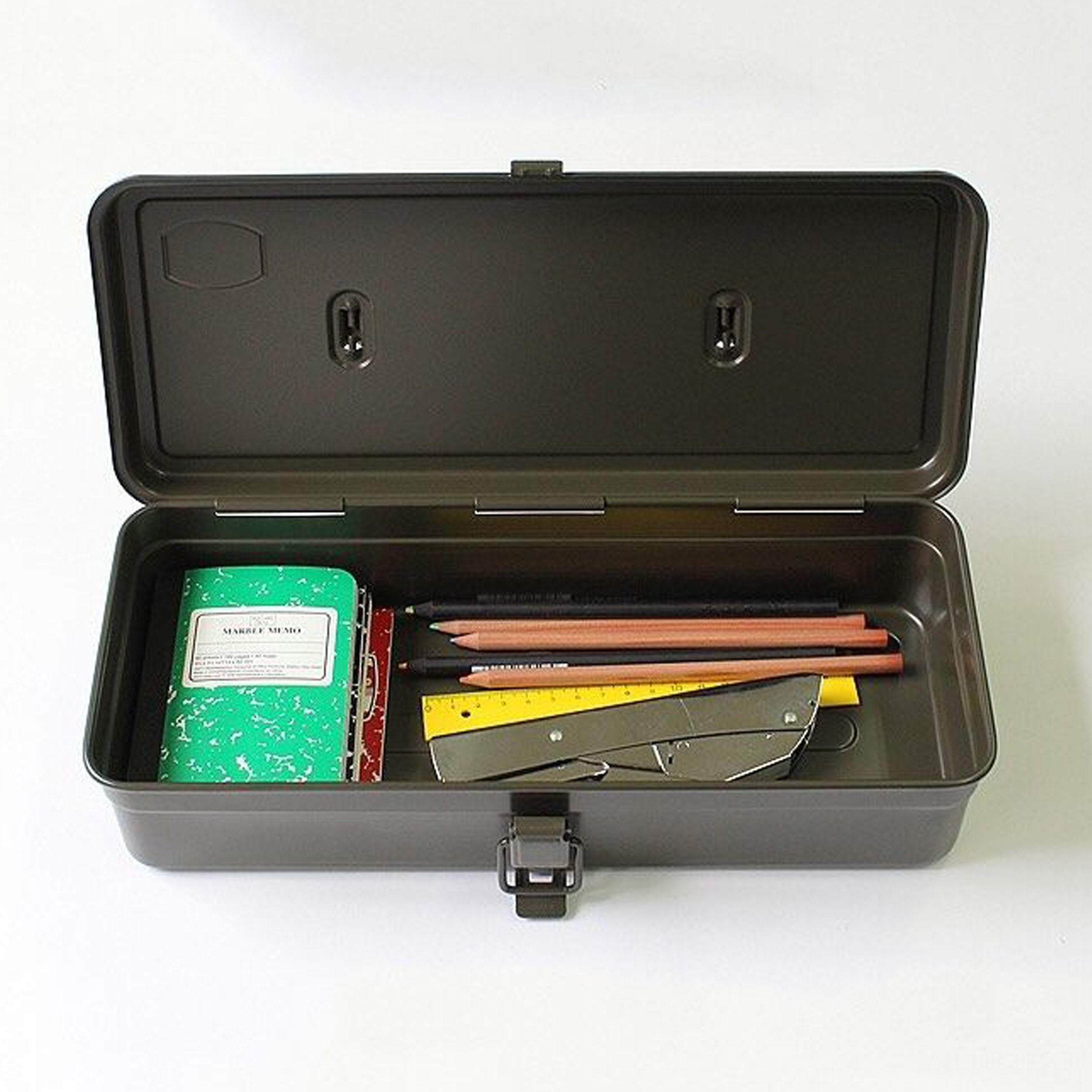 Steel Toolbox with Top Handle and Flat Lid, style T-320