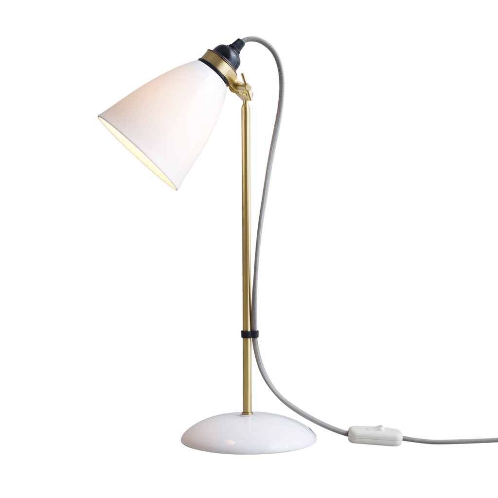 Hector 30 Table Light, Satin Brass