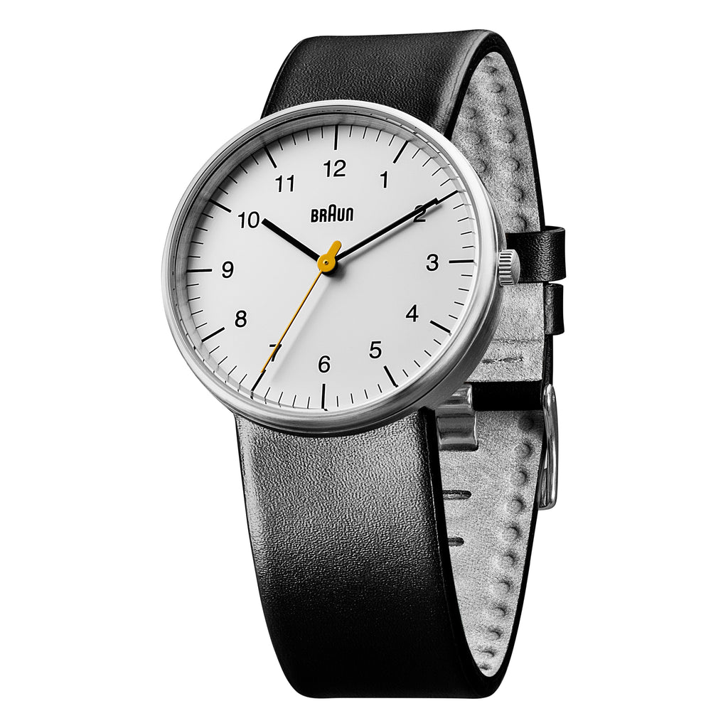 Braun - BN-21BKG Men's White Dial, Black Band