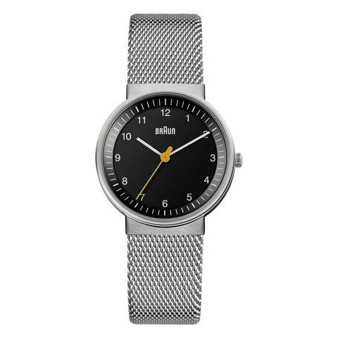 Braun - BN-31BKSLMHL Ladies' Black dial, Stainless Steel Mesh band