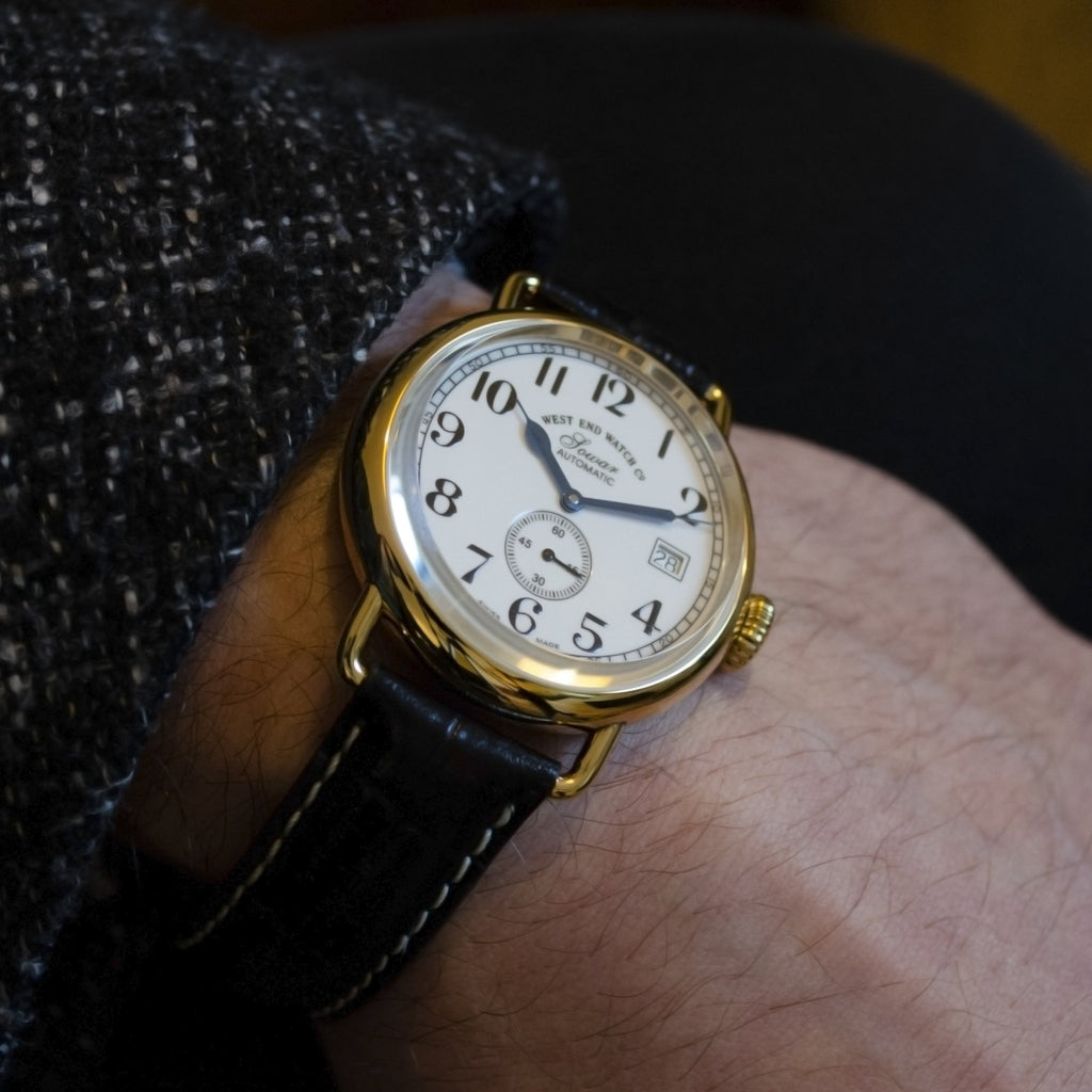 West End Watch Co. - Sowar 1916 - White Dial, Gold PVD Case