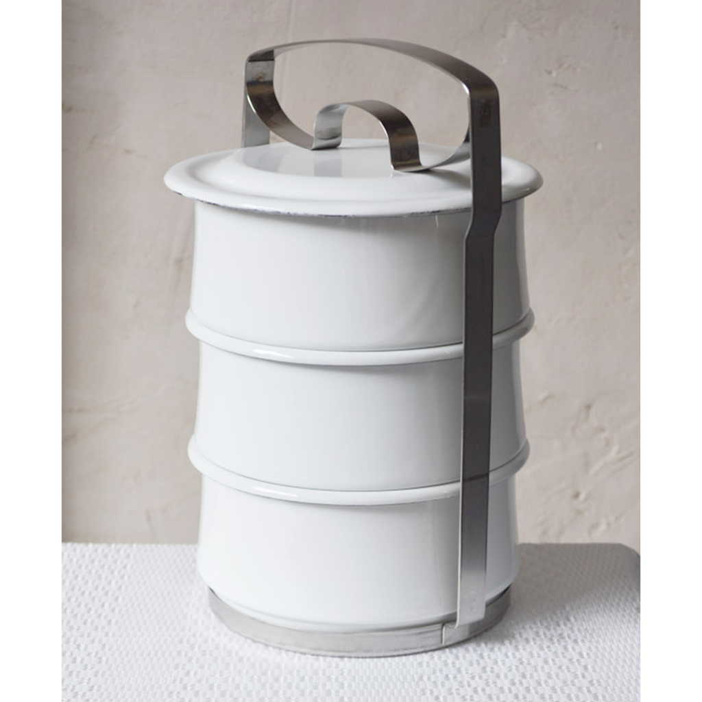 Three-Tier Enamel Food Container