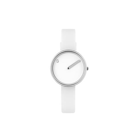 Picto - 30mm White / Polished Steel
