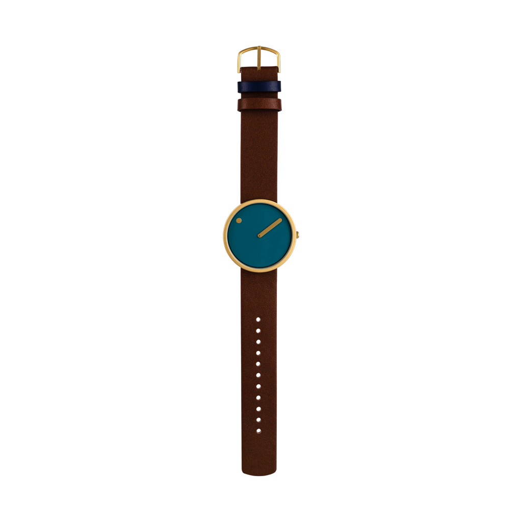 Picto -  40mm Blue / Matt Gold