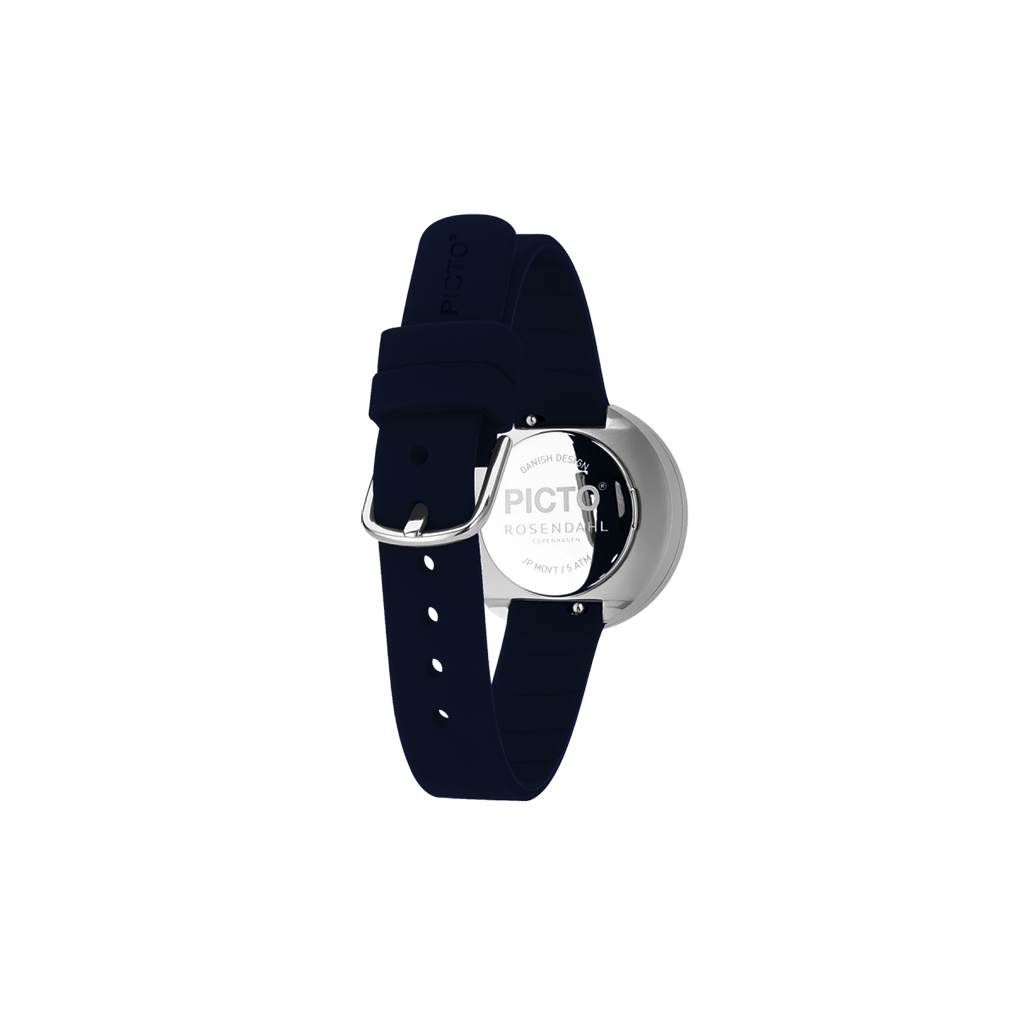 Picto - 30mm Navy Blue / Polished Steel