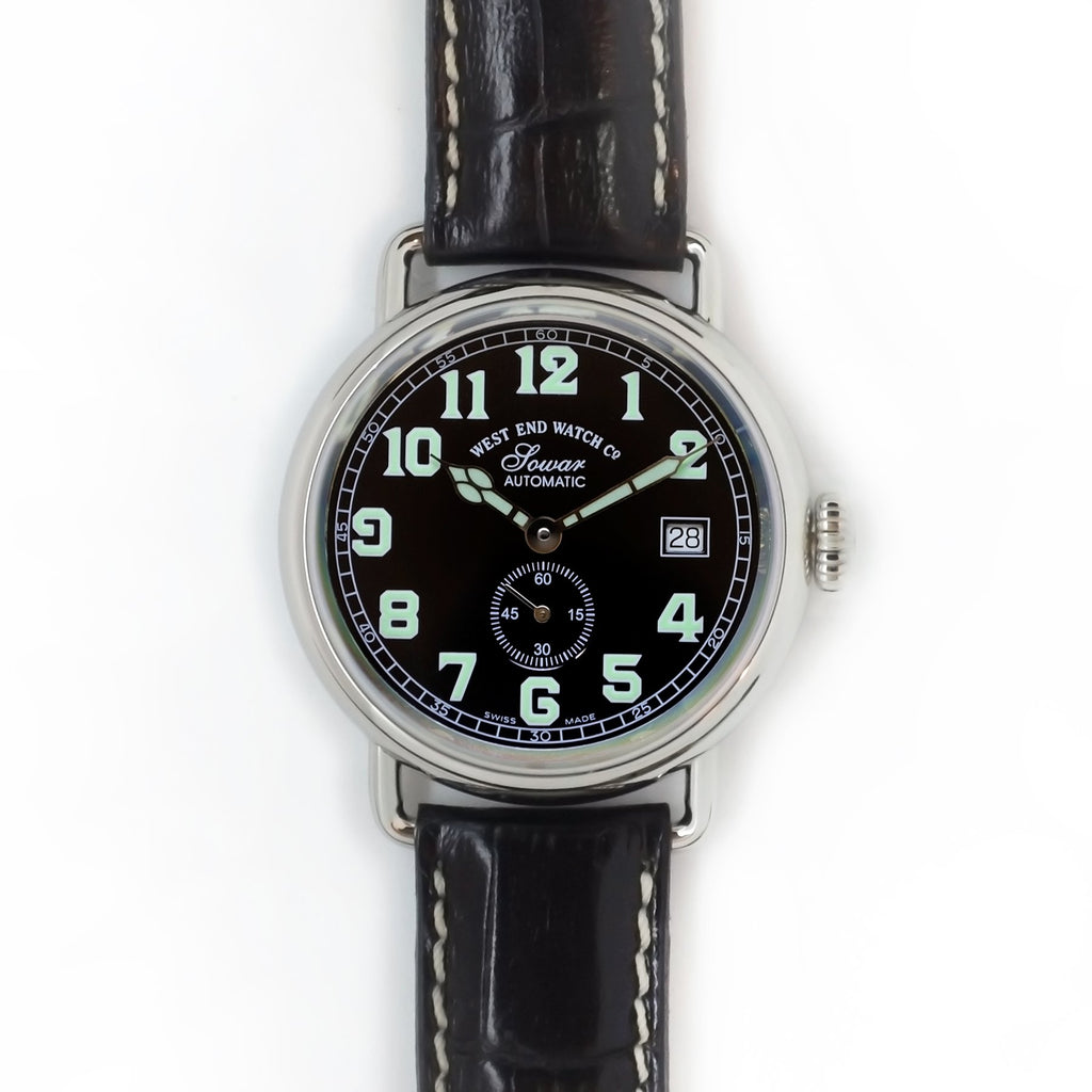 West End Watch Co. - Sowar 1916 - Black Dial, Silver Case