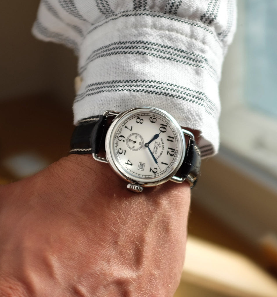 West End Watch Co. - Sowar 1916 - White Dial, Silver Case