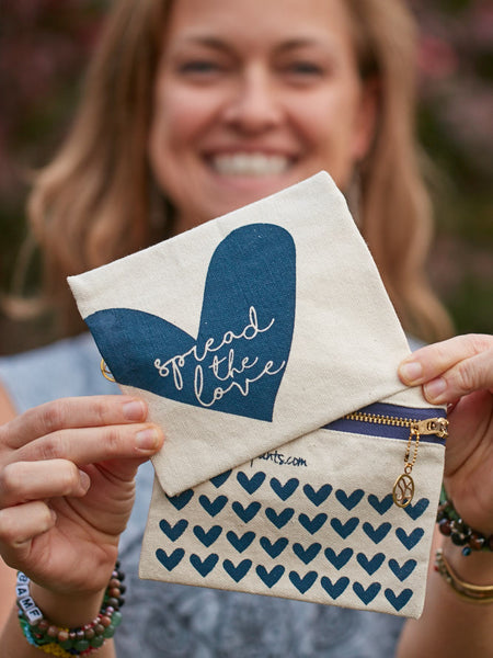 Spread the Love Zipper Pouch