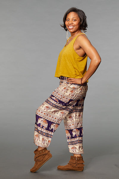 Saza Purple Harem Pants