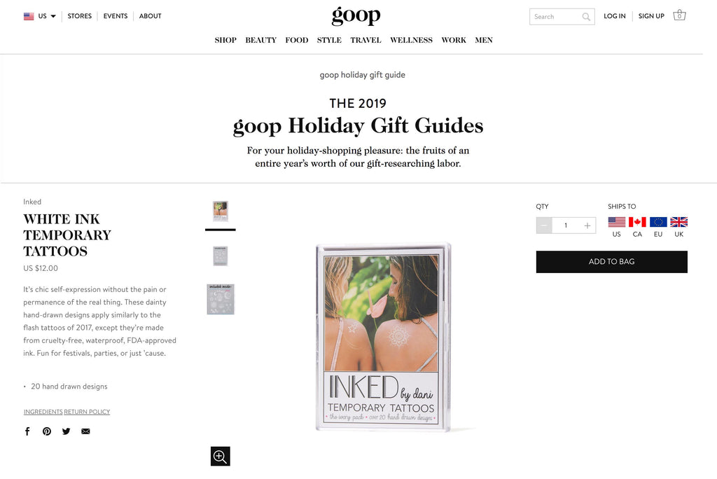 GOOP 2019 HOLIDAY GIFT GUIDE