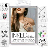 INKED by dani Temporary Tattoos - The Festival Pack