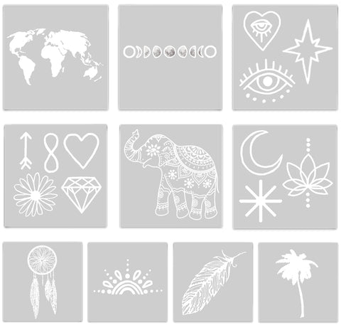 INKED by dani Temporary Tattoos - White-Out Pack