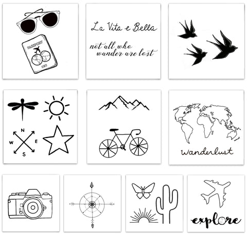 INKED by dani Temporary Tattoos - Destination Pack