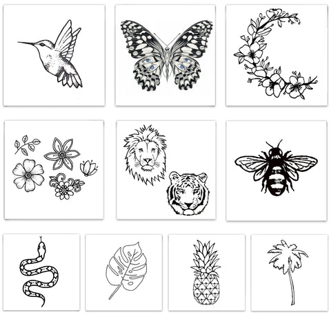INKED by dani Temporary Tattoos - Jungle Fever Pack