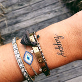 INKED by dani Temporary Tattoos - Happy