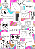 INKED by dani Temporary Tattoos - Deluxe Black & White Pack