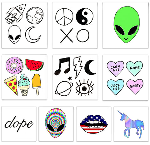 INKED by dani Temporary Tattoos - 90's Pack