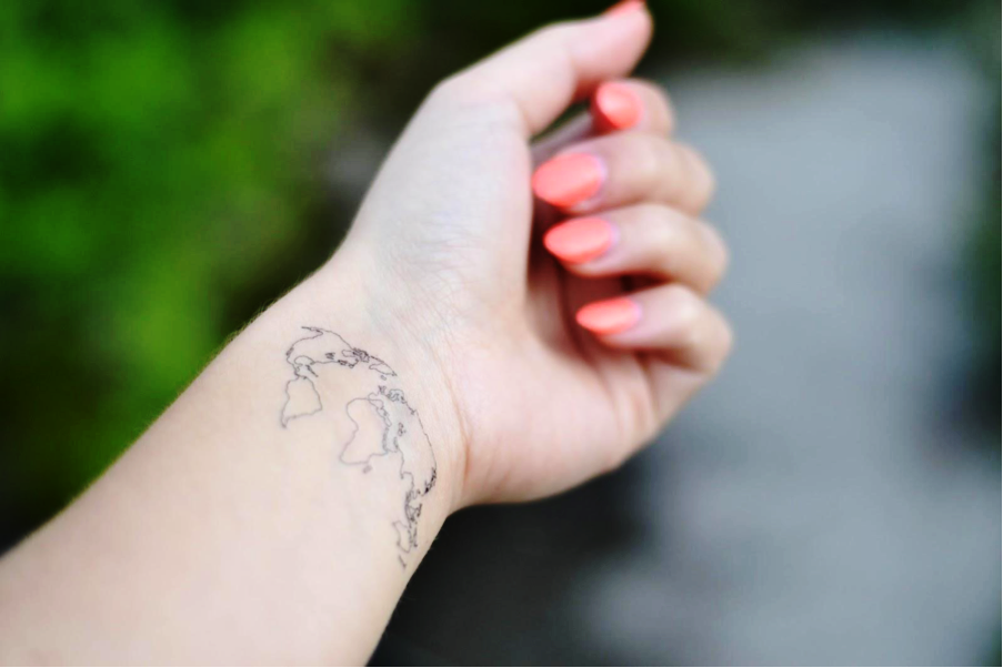 World map temporary tattoo inked by dani the world map gumiabroncs Image collections