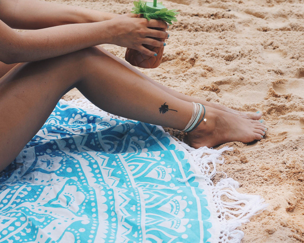 INKED by dani Temporary Tattoos - Beachy Palm – INKED by Dani ...