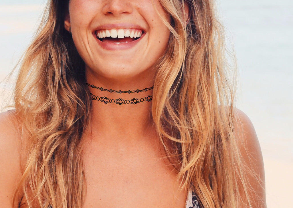 3c2dc5a69 INKED by dani Temporary Tattoos - Bejeweled Choker – INKED by Dani ...