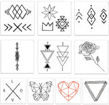 INKED by dani Temporary Tattoos - Geometric Pack