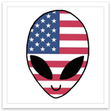 INKED by dani Temporary Tattoos - Patriotic Alien