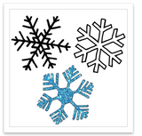INKED by dani Temporary Tattoos - Sparkly Snowflakes