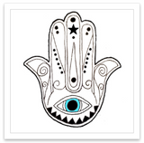 INKED by dani Temporary Tattoos - Hamsa