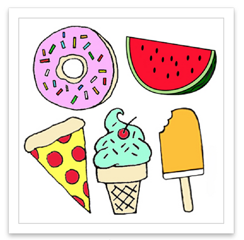 INKED by dani Temporary Tattoos - Foodie Mini Set