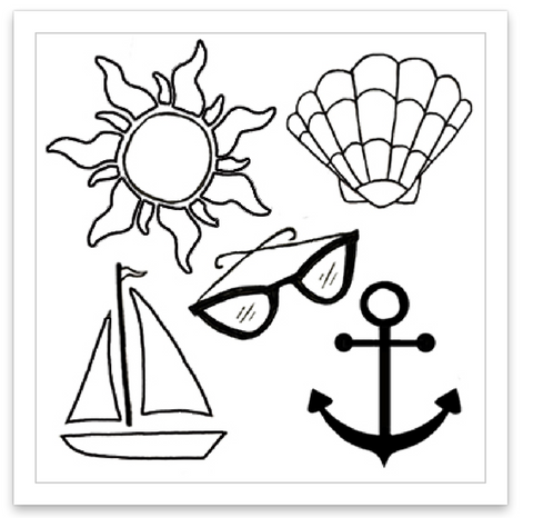 INKED by dani Temporary Tattoos - Summer Vibes Mini Set