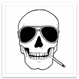 INKED by dani Temporary Tattoos - Smokin' Skull