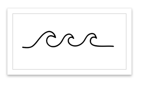 image regarding Printable Tattoos Paper known as Wave