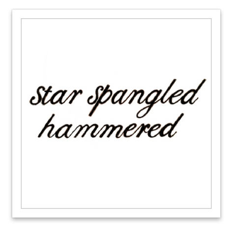 INKED by dani Temporary Tattoos - Star Spangled Hammered