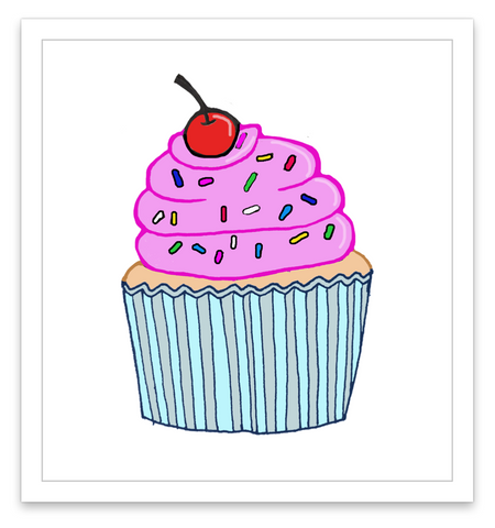 INKED by dani Temporary Tattoos - Cupcake