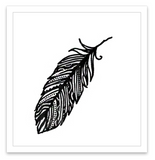 INKED by dani Temporary Tattoos - Feather