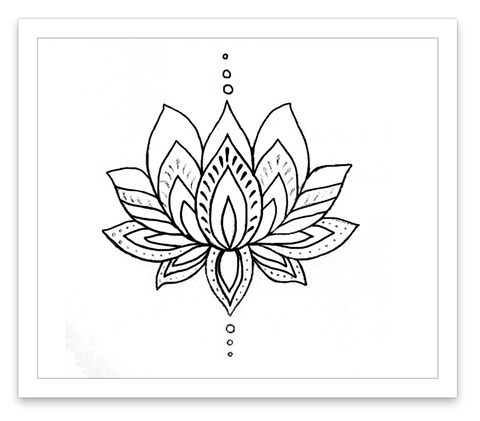 INKED by dani Temporary Tattoos - Lotus Flower