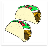 INKED by dani Temporary Tattoos - Let's Taco-bout It