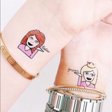 INKED by dani Temporary Tattoos - Happy Pack