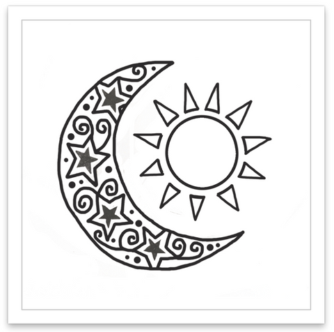 INKED by dani Temporary Tattoos - Lunar Eclipse