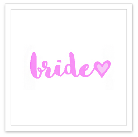 INKED by dani Temporary Tattoos - Bride