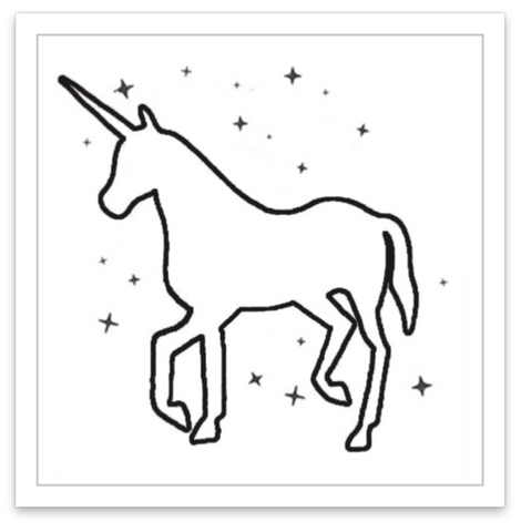 INKED by dani Temporary Tattoos - Galactic Unicorn