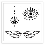 INKED by dani Temporary Tattoos - Celestial Mini Set