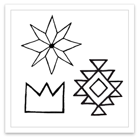 INKED by dani Temporary Tattoos - Geometric Mini Set